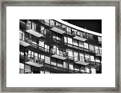 Balconies In Vina Del Mar Framed Print by John Rizzuto