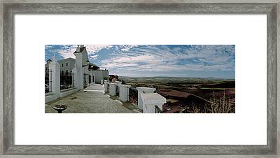 Balcony Of A Building, Parador, Arcos Framed Print by Panoramic Images