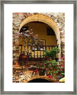 Balcony St Lucia Framed Print by Tom Prendergast