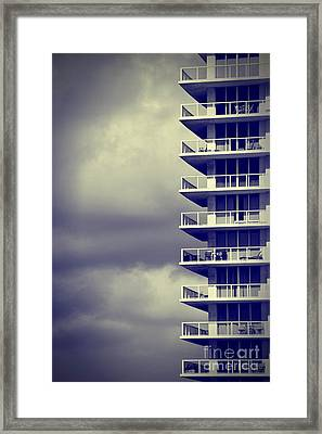 Balcony Study Framed Print by Amy Cicconi