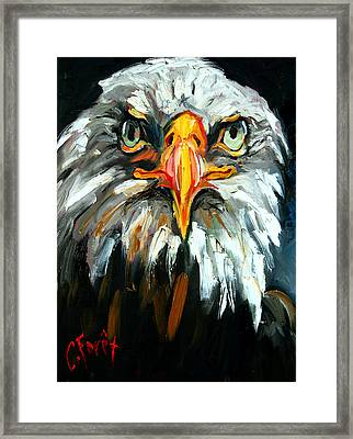 Bald And Bold Framed Print by Carole Foret