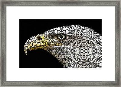 Bald Eagle Art - Eagle Eye - Stone Rock'd Art Framed Print by Sharon Cummings