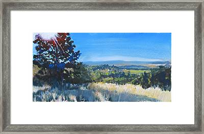 Bald Hill 8am Framed Print by Rob Fitzsimmons