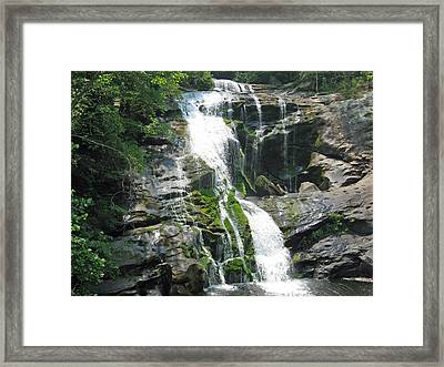 Bald River Falls Framed Print by Laura Watts