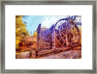 Bale Grist Mill Framed Print by Kaylee Mason