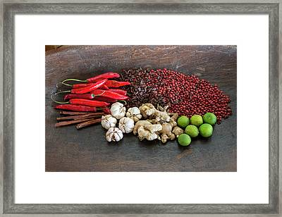 Bali, Indonesia Balinese Spices Framed Print by Charles O. Cecil