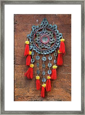 Bali, Indonesia Metalwork And Cloth Framed Print by Charles O. Cecil