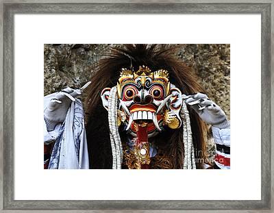 Bali Traditional Berong Mask Framed Print by Bob Christopher