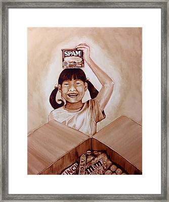Balikbayan Box Framed Print by Clarisse Pastor-Medina