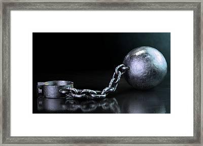 Ball And Chain Dark Framed Print by Allan Swart