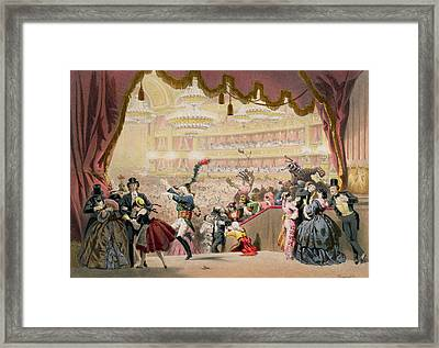 Ball At The Opera Framed Print by Eugene Charles Francois Guerard