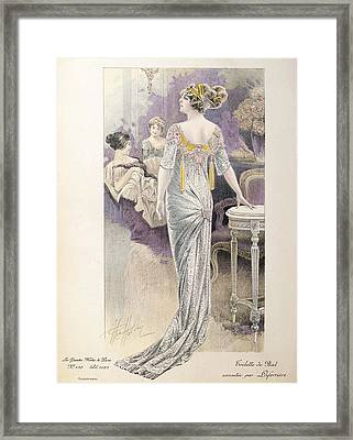 Ball Gown Framed Print by French School
