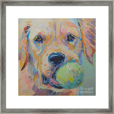 Ball Framed Print by Kimberly Santini