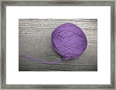 Ball Of Wool Framed Print by Tom Gowanlock
