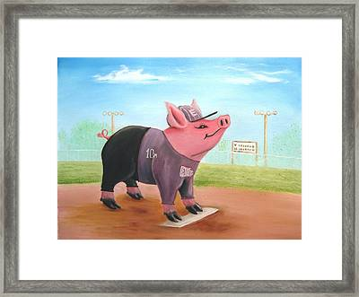 Ball Pig With Attitude Framed Print by Bobby Perkins