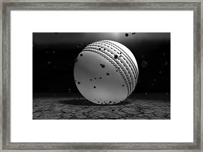 Ball Striking Ground Framed Print by Allan Swart