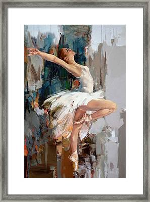 Ballerina 22 Framed Print by Mahnoor Shah