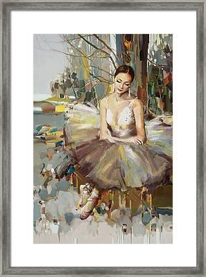 Ballerina 32 Framed Print by Mahnoor Shah