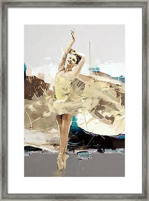 Ballerina 34 Framed Print by Mahnoor Shah