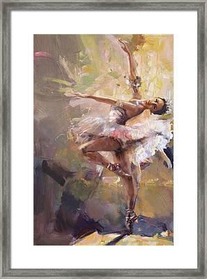 Ballerina 35 Framed Print by Mahnoor Shah