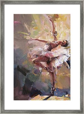 Ballerina 40 Framed Print by Mahnoor Shah