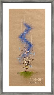 Ballerina And Elephant Framed Print by David Breeding