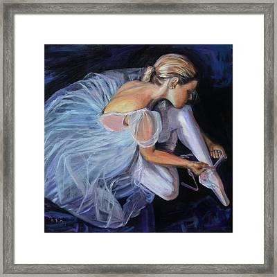 Ballerina Framed Print by Donna Tuten