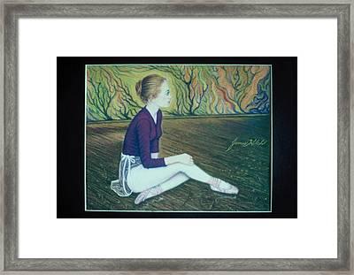 Ballerina Framed Print by James Welch