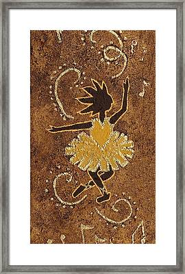Ballerina Framed Print by Katherine Young-Beck