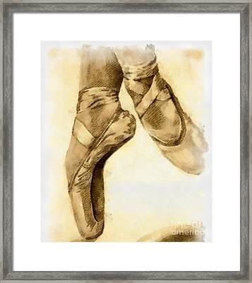 Ballerina Shoes Framed Print by Yanni Theodorou