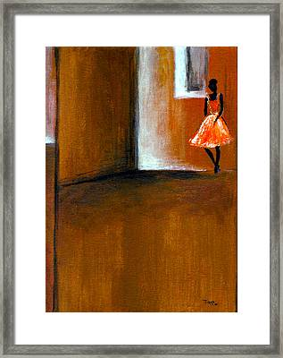 Ballerine Solitaire Framed Print by Mirko Gallery