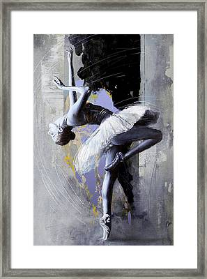 Ballet Dancer 16 Framed Print by Mahnoor Shah