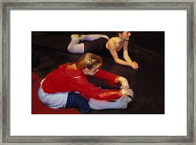 Ballet Dancers At Rest Framed Print by Carl Purcell