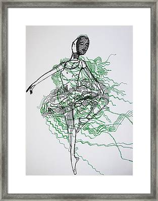 Ballet Framed Print by Gloria Ssali