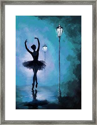 Ballet In The Night  Framed Print by Corporate Art Task Force