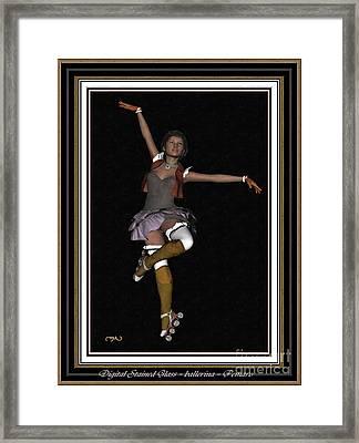 Ballet On Skates 1bos2 Framed Print by Pemaro