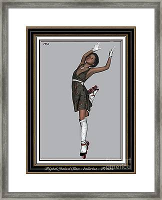 Ballet On Skates 2bos2 Framed Print by Pemaro