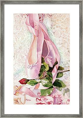 Ballet Rose Framed Print by Judy Koenig