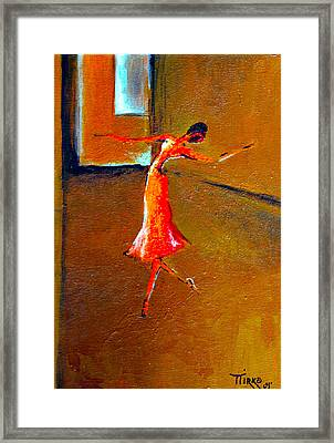 Ballet Solitaire Framed Print by Mirko Gallery