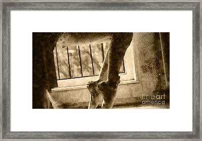 Ballet Stretch Framed Print by Yanni Theodorou