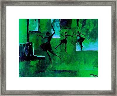 Ballet Vert Framed Print by Mirko Gallery