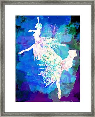 Ballet Watercolor 2 Framed Print by Naxart Studio
