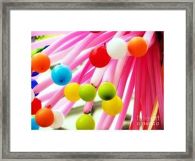 Ballons Framed Print by Sinisa Botas
