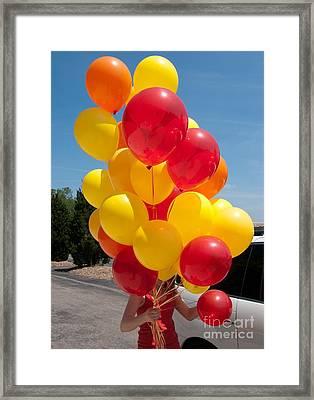 Balloon Girl Framed Print by Ann Horn