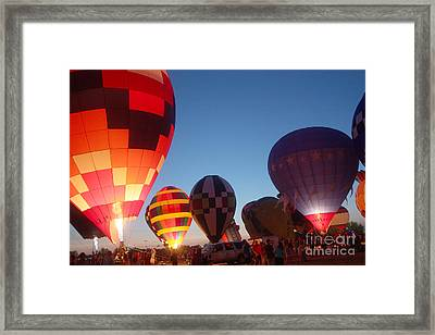 Balloon-glow-7783 Framed Print by Gary Gingrich Galleries