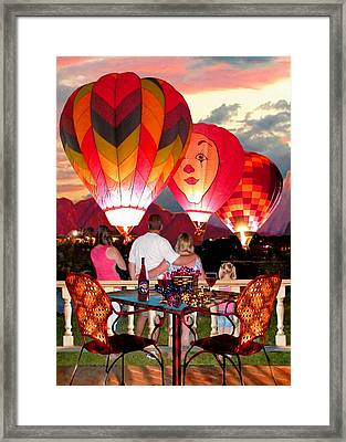 Balloon Glow At Twilight Framed Print by Ron Chambers