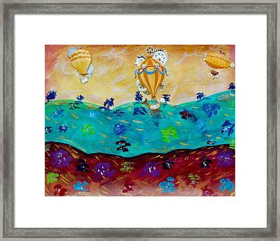 Balloon Ride Framed Print by Jessica Marin-feliciano