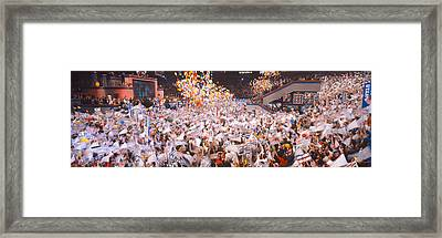 Balloons Dropping At Democratic Framed Print by Panoramic Images