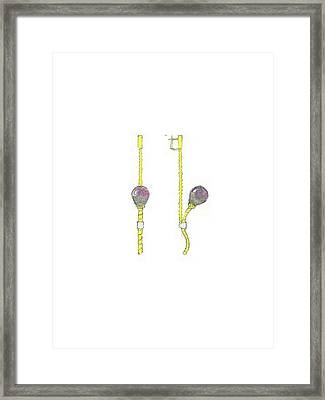 Balloons Earrings Framed Print by Giuliano Capogrossi Colognesi