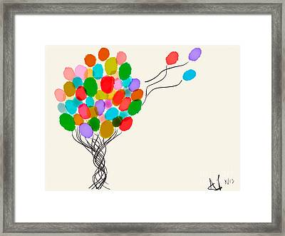 Balloons For Sale Framed Print by Anita Lewis